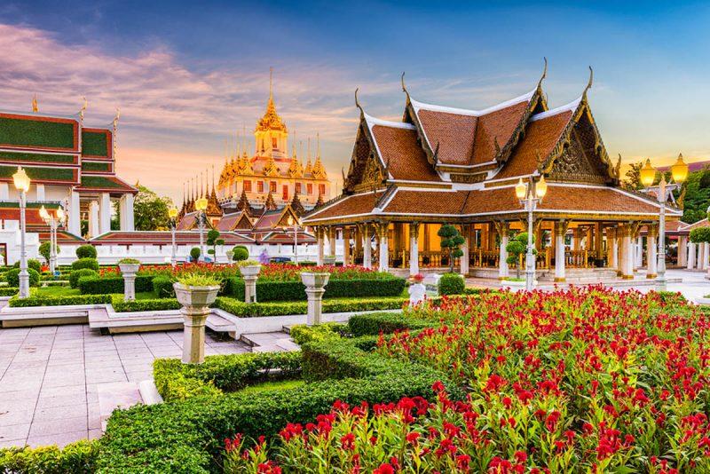 Wat Ratchanatdaram in Bangkok Thailand