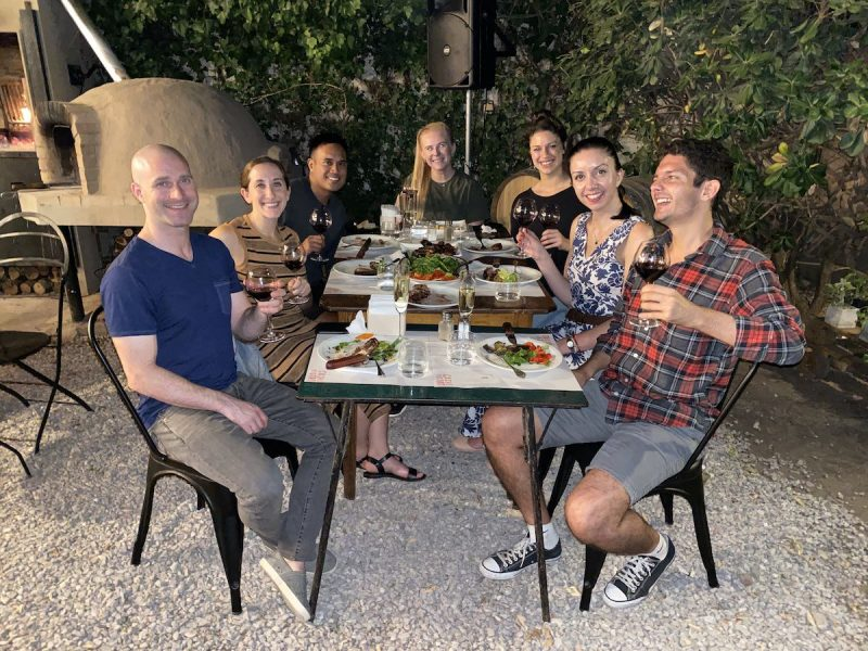Asado (grill) dinner in Mendoza