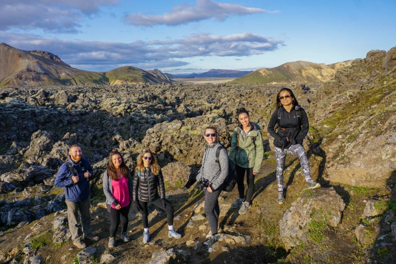 Lava field hiking in style