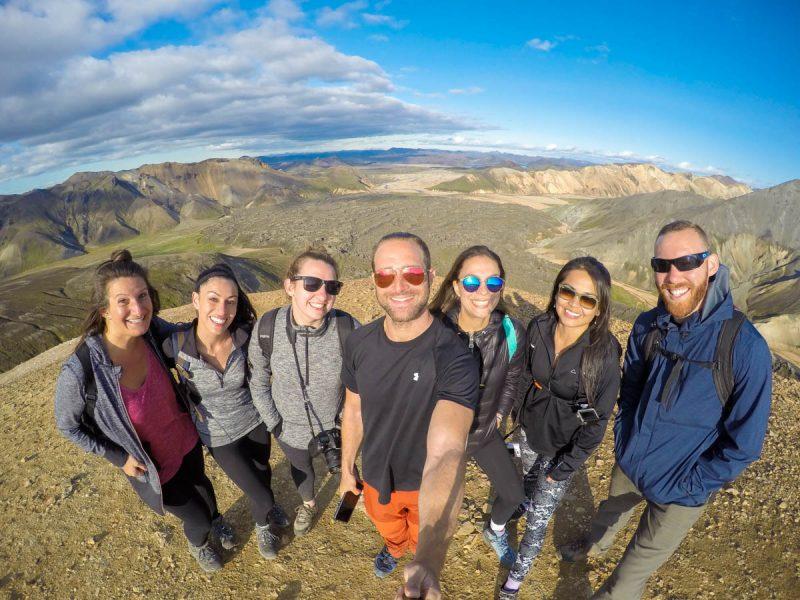 Landmannalaugar summit selfie