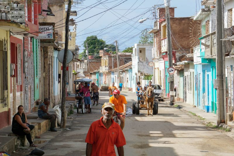 The lively streets of Trinidad Cuba