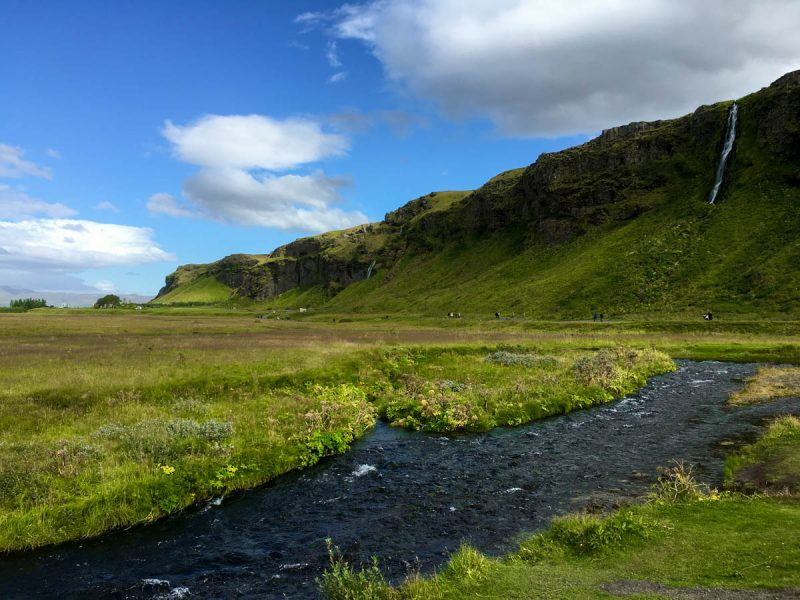 Icelandic countryside near Seljalandsfoss