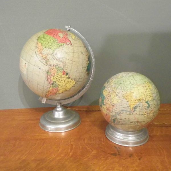 Vintage Illuminated Globes