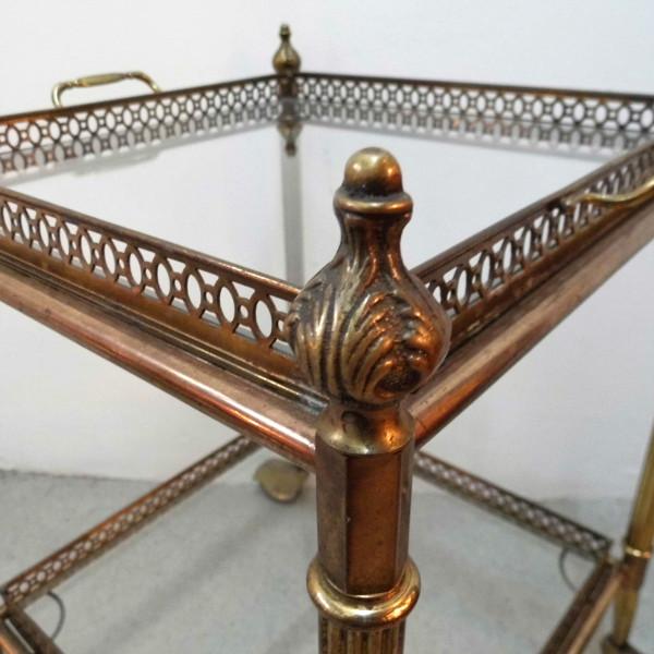 Pair of vintage brass trolleys