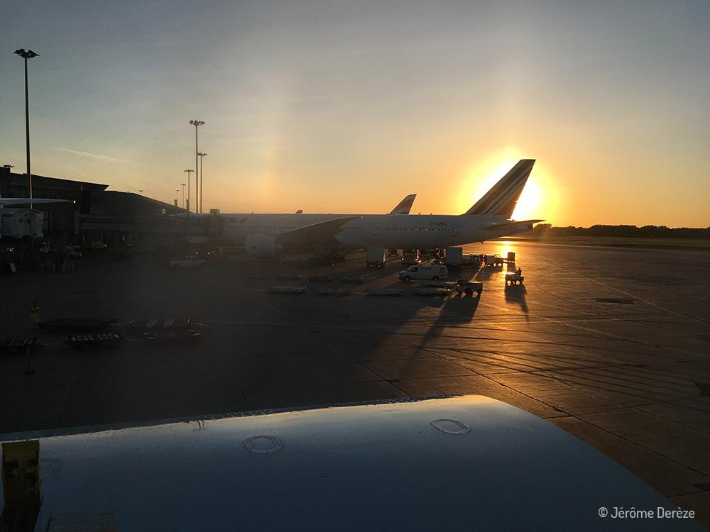 Aéroport Pierre-Elliott Trudeau - Coucher de soleil