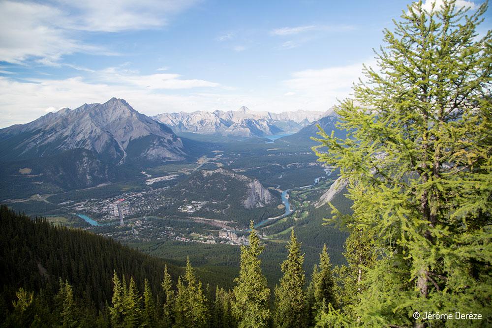 voyager au parc national de Banff - Gondola ville de Banff