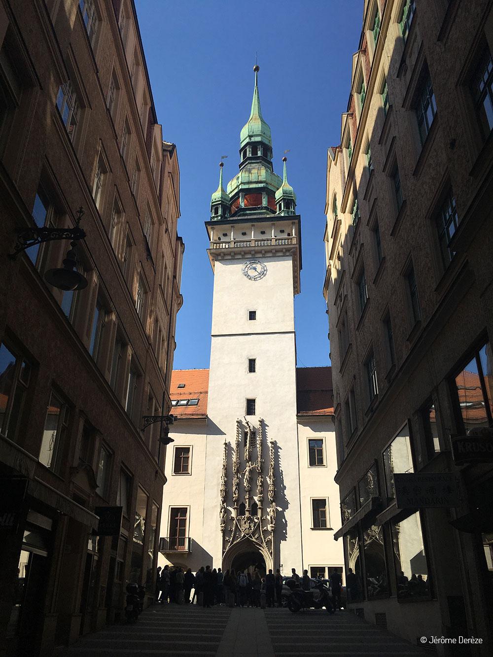 La tour du vieil hôtel de ville de Brno