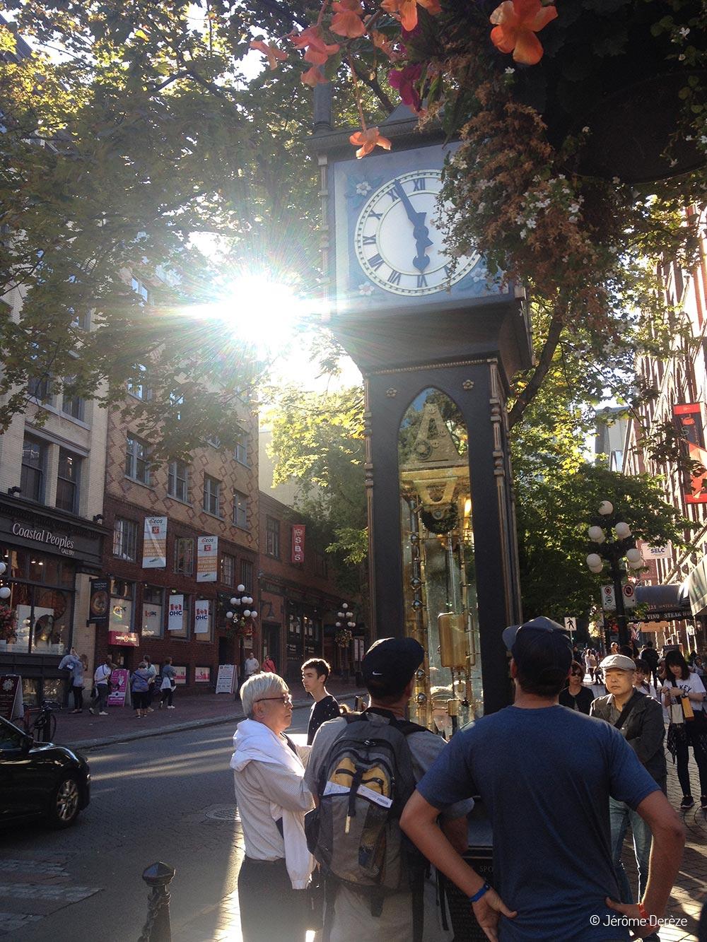 Voyager à Vancouver - Horloge de Gastown