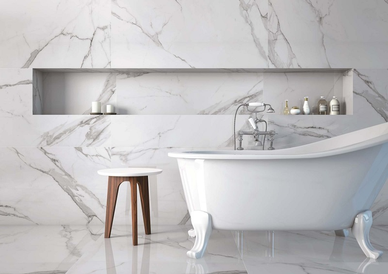 carrelage marbre blanc noir a prix