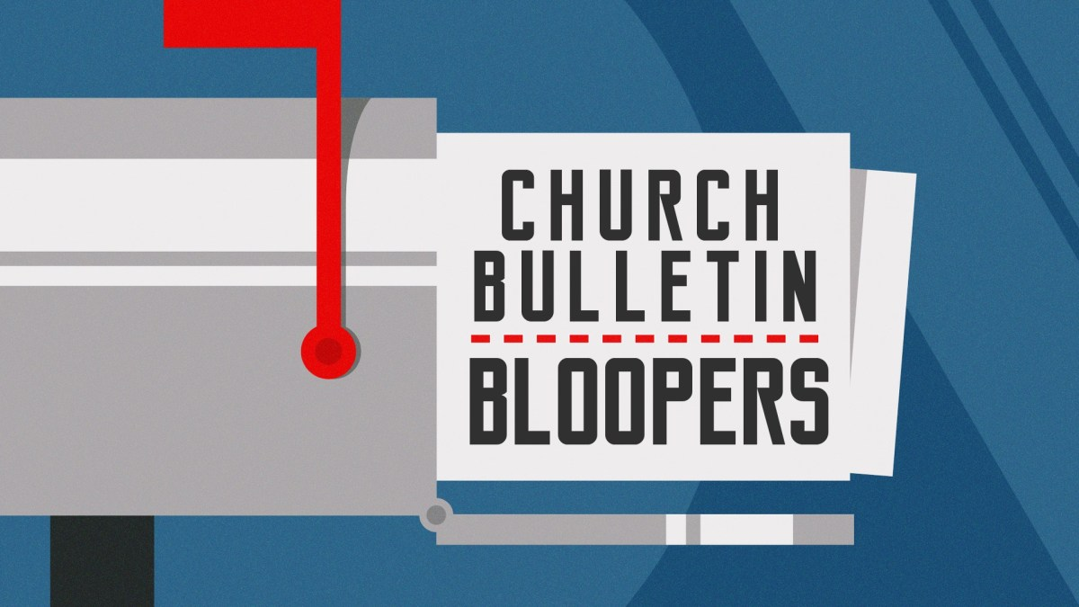 Church Bulletin Bloopers