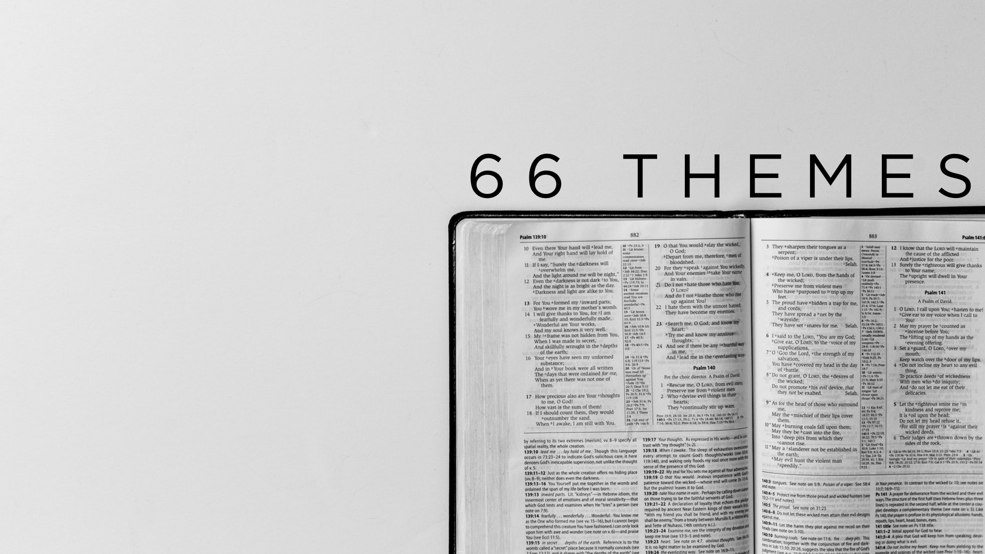66 Themes [Memory Verse from Every Book in the Bible
