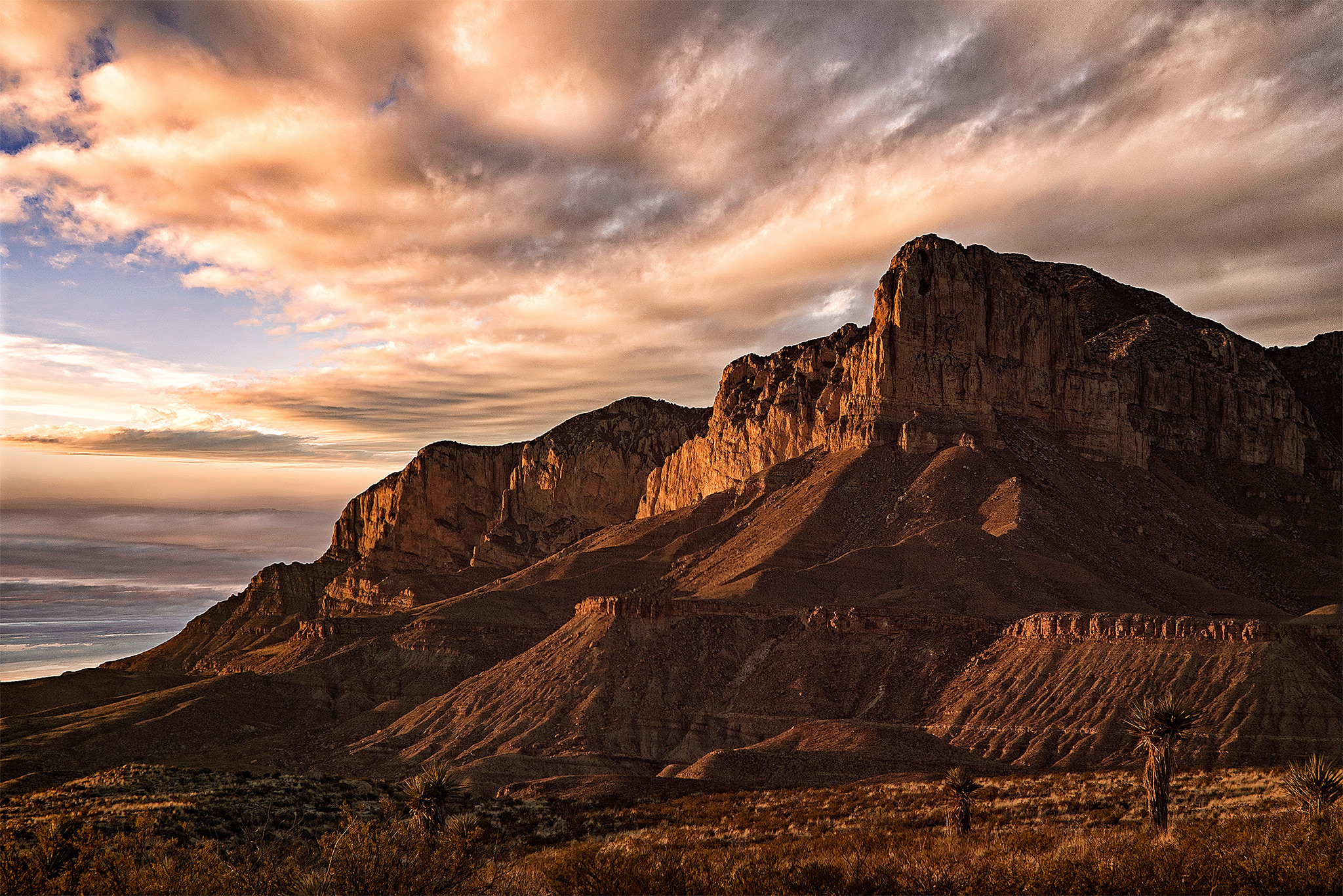 El Capitan Sunset Guadalupe Mountains National Park