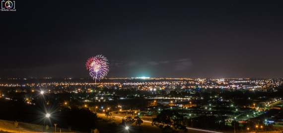 Fireworks from the Toomuc Carols on the 12th December 2015