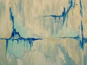 SOLD Sarah Tinsley Parker Neutral Seas Acrylic on Canvas 30x40