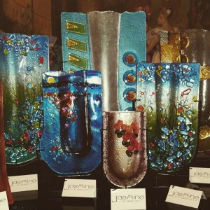 Fused Art Glass Vases and Cheese Trays