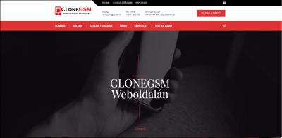 CloneGSM Weboldala