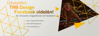 TheRealBear Design – Facebook oldal fejléc