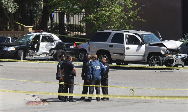 LAPD officer killed in crash, 2nd officer seriously hurt ...