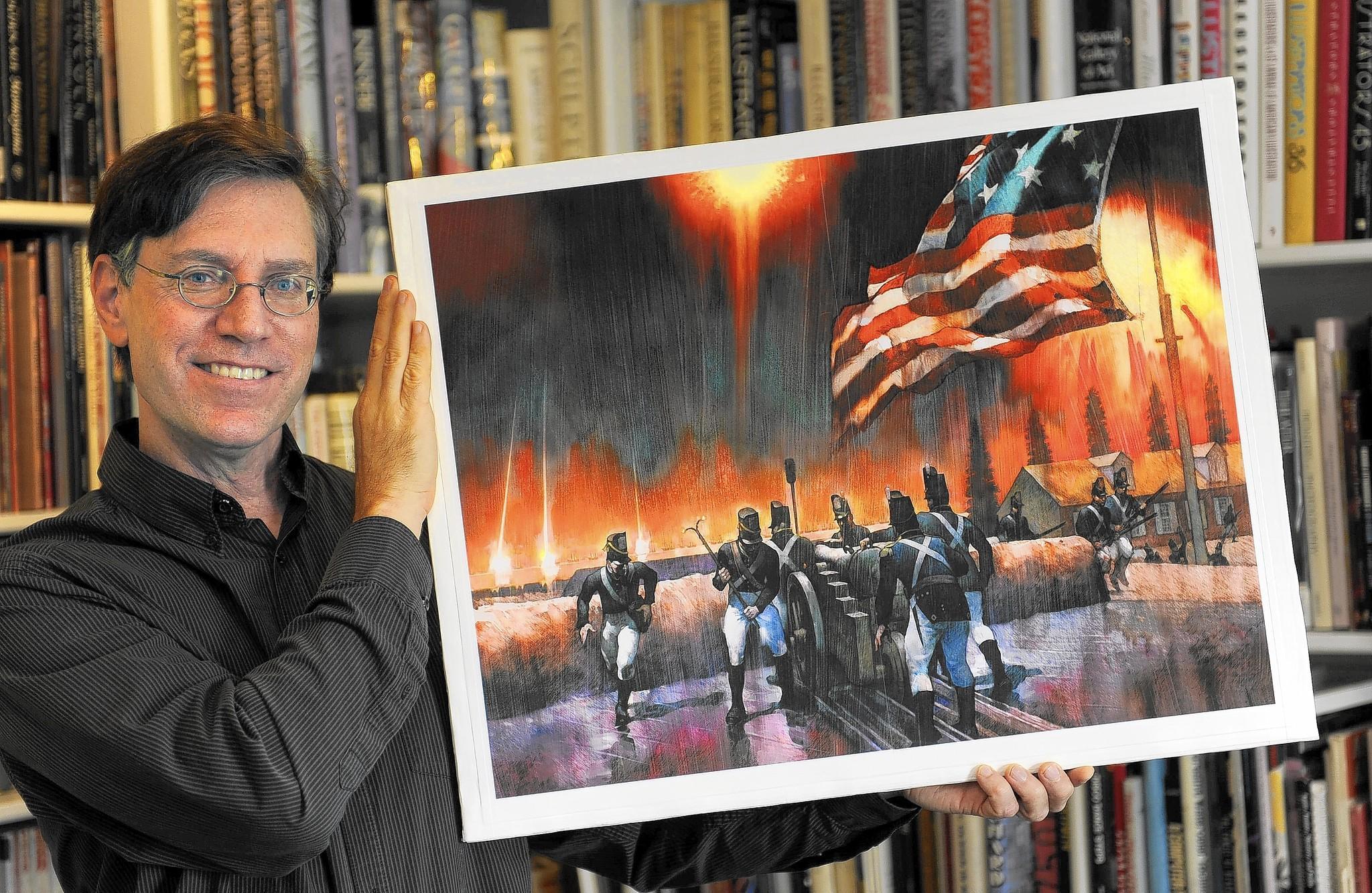Annapolis Artist Puts His Stamp On The Battle Of Baltimore Tribunedigital Baltimoresun