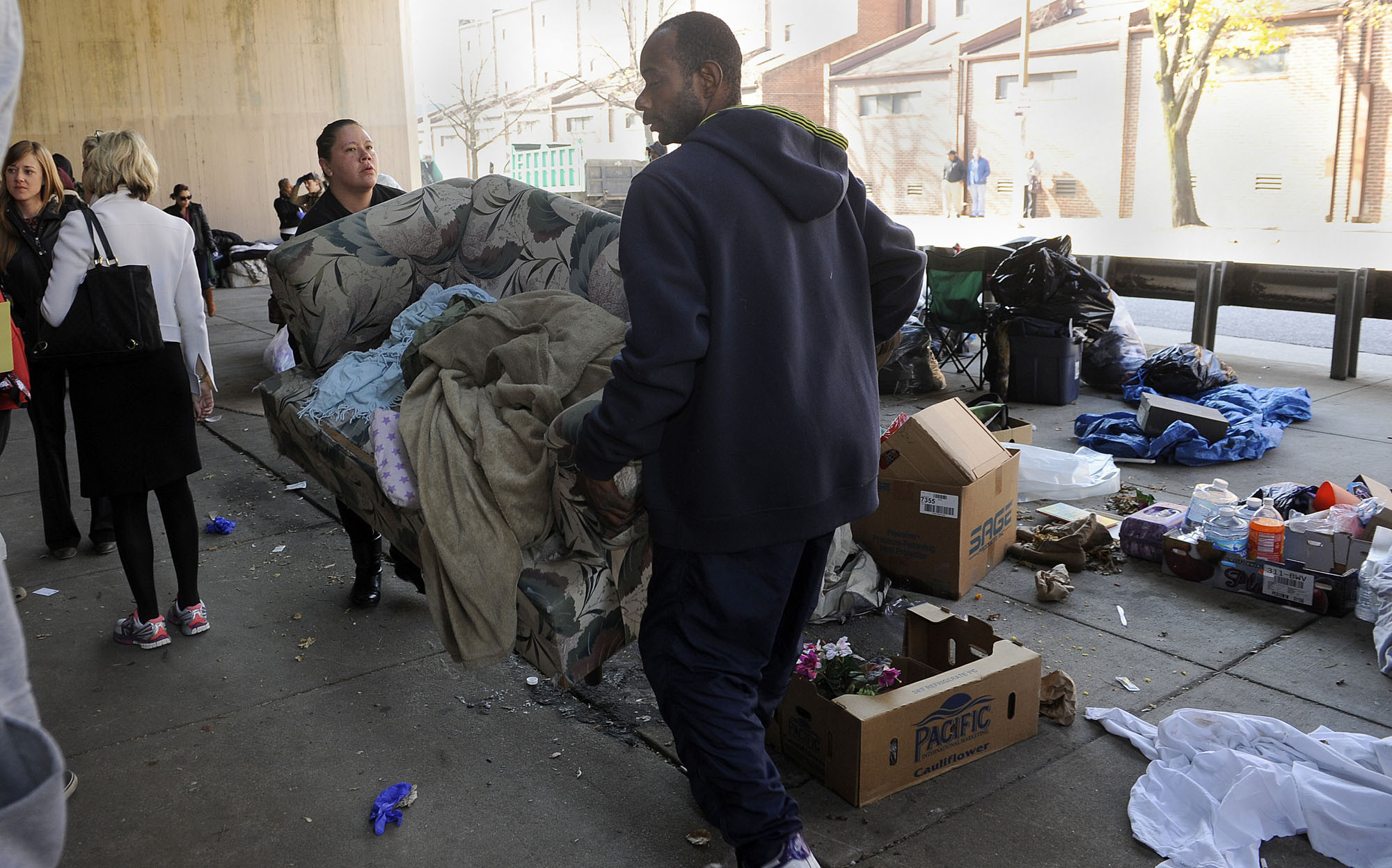 Downtown Baltimore Homeless Encampment Targeted In Regular