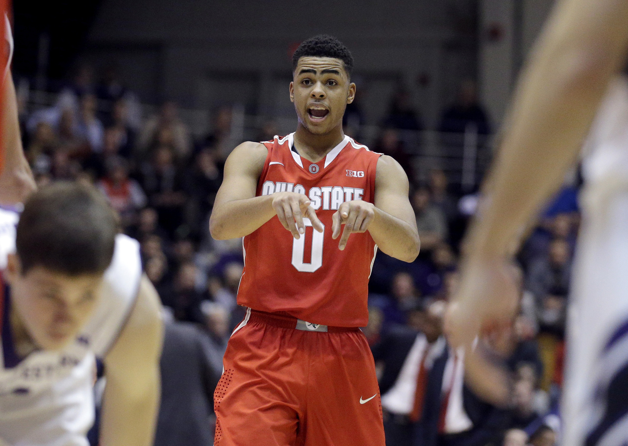Ohio States DAngelo Russell Steals The Show In Win At Northwestern Chicago Tribune