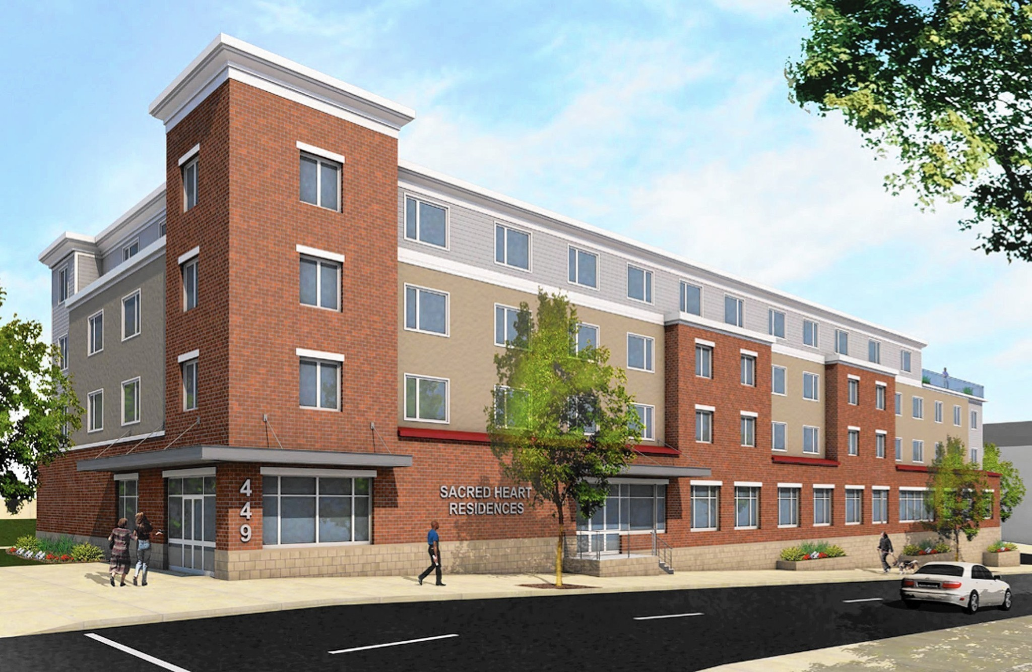 Sacred Heart Hospital During Block Of Hold Rowhomes Into
