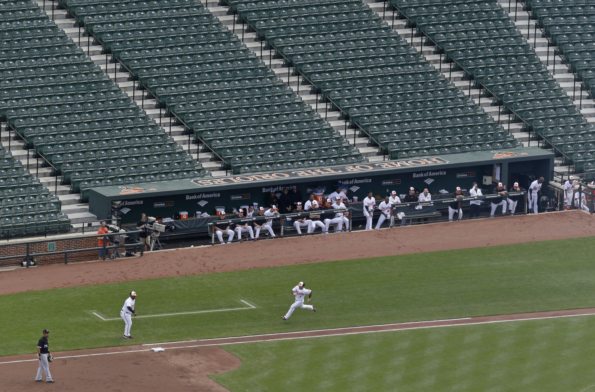 Orioles White Sox Play To Empty Stadium Hartford Courant