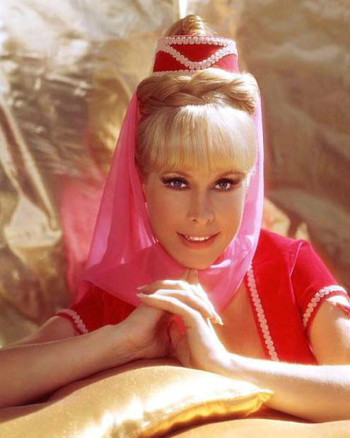 I DREAM OF JEANNIE STAR BARBARA EDEN ARRIVES AT ARCADA THEATRE ON HER MAGIC CARPET JUNE 14