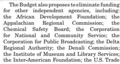 Here are the agencies Trump's budget would stop funding ...