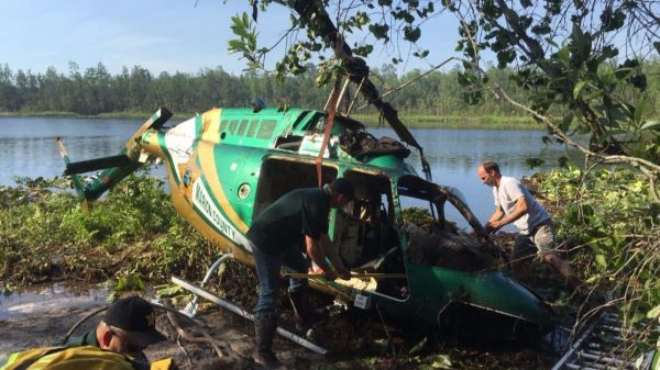 Marion County sheriff's helicopter crashes into lake while ...