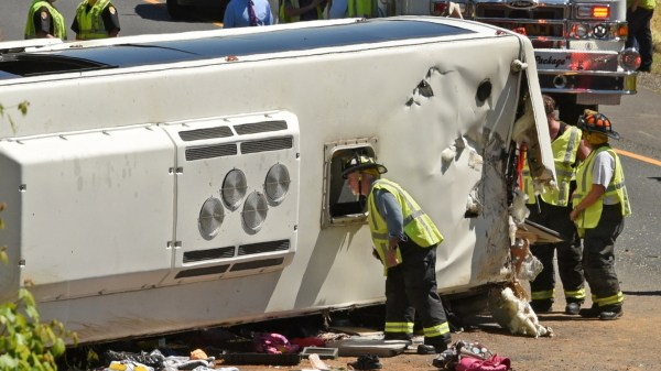 Woman remains in critical condition after I-95 bus crash ...