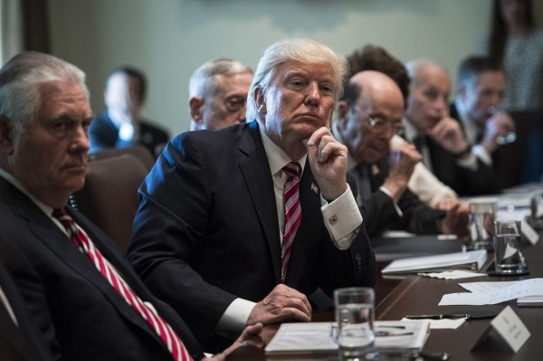 Fact check: The record behind Trump's Cabinet meeting ...