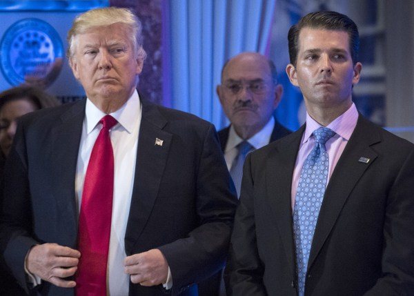 Trump Jr. avoids questions about talks with father, says ...