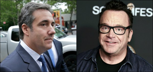 Michael Cohen's photo with Tom Arnold fuels Trump tape ...
