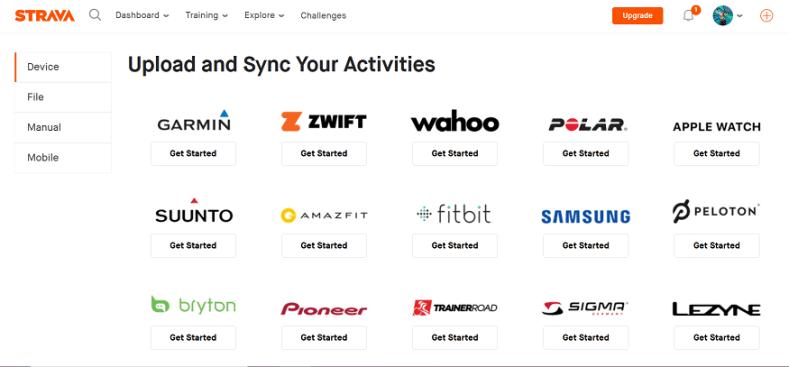 Uređaji koji se povezuju sa STRAVA aplikacijom