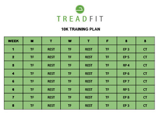 Treadfit 10k Training Plan
