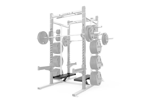 bolt on spotters stand d series double half rack