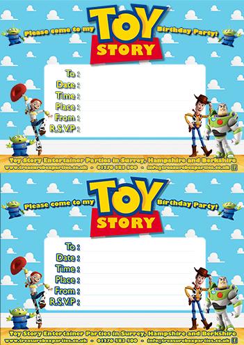 free toy story birthday party