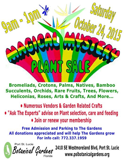 Plant Sale. Magical Mystery Plant Sale. Magical Mystery Plant Sale At The Port  St. Lucie Botanical Gardens