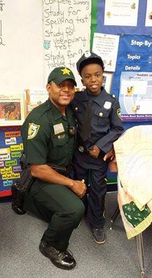 Deputy Jones and his son jaiden