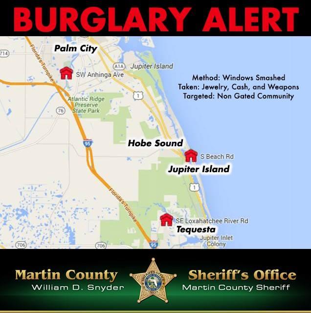 Martin County Burglary Alert