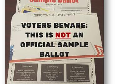 VOTERS BEWARE: MISLEADING SAMPLE BALLOT