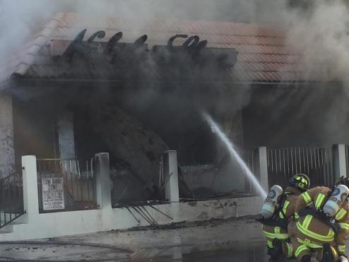 Noble Shoes Destroyed in a Fire