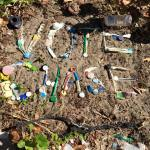 Beach clean up and trash creation with Chase Lurgio