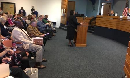 Stuart Mayor Eula Clarke at the Martin County Legislative Delegation Meeting 2017