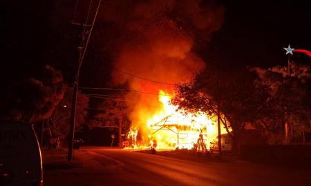 Stuart Nativity Scene goes up in flames
