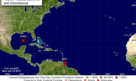 Tropical Storm Bret Forms