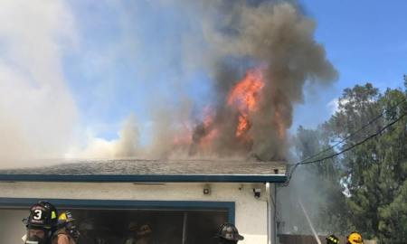 Fire on Bayshore Drive