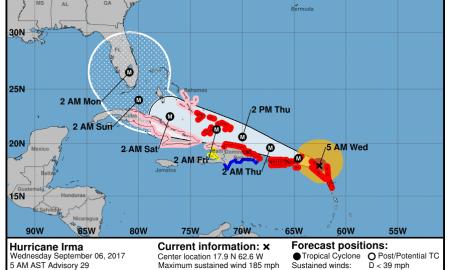 Hurricane Irma Sept 6 -5 am update