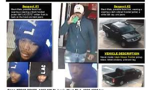 PSLPD needs your help in identifying Auto Burglary/Credit Card Fraud suspects.